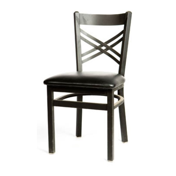 Cross Back Metal Dining Chair SL2130