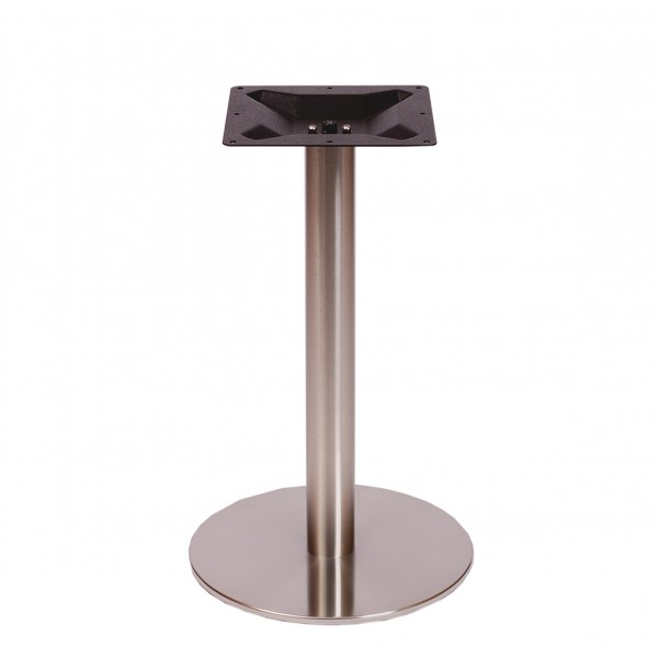 Diskus Round Stainless Steel Commercial Outdoor Patio Restaurant Table Base