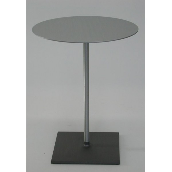 "Eco Friendly Indoor Restaurant Furniture 24"" Round Brushed Aluminum Cafe Table"