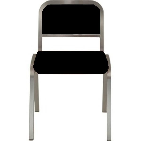 Eco Friendly Indoor Restaurant Furniture Nine-0 Aluminum Stacking Soft Back Side Chair