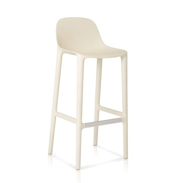 Eco Friendly Outdoor Restaurant Breakroom Chairs Emeco Broom 30 Barstool - White