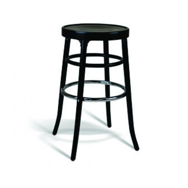 Eco Friendly Restaurant Beech Solid Wood Bar Stool 302 Series