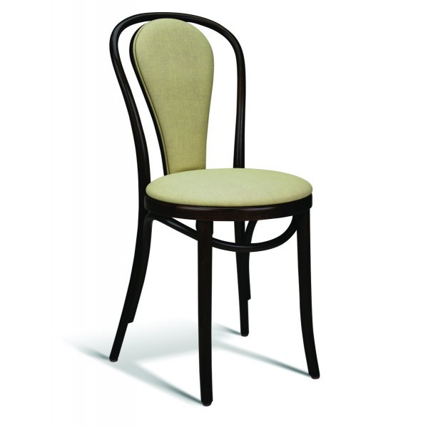 Eco Friendly Restaurant Beech Solid Wood Side Chair 118 Series