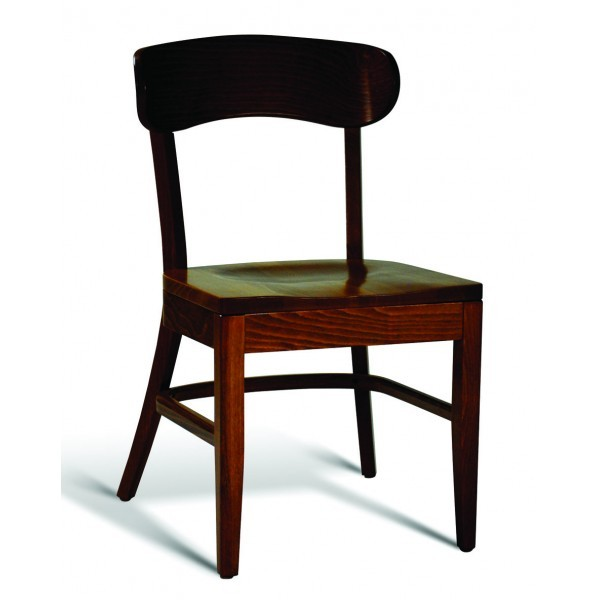 Eco Friendly Restaurant Beech Solid Wood Side Chair CC100 Series