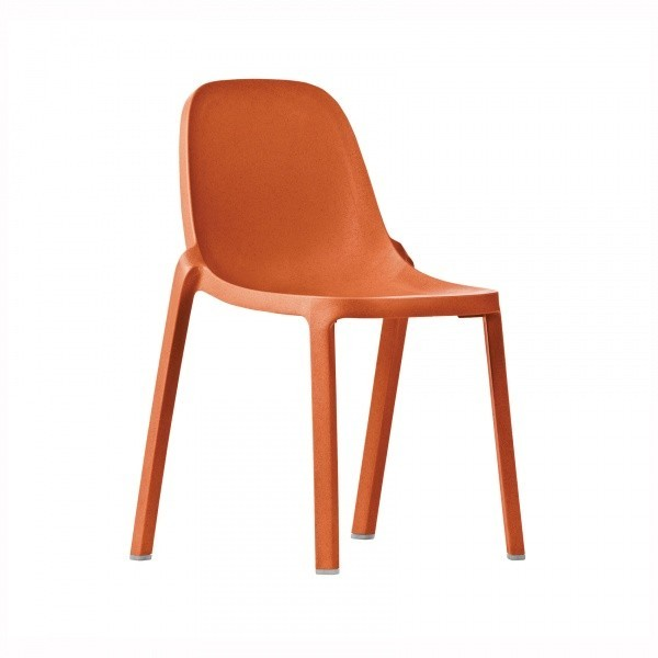 Eco Friendly Restaurant Breakroom Chairs Broom Recycled Chair - Orange