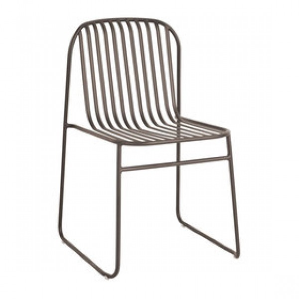 Emu Riviera 434 Steel Italian Commercial Restaurant Hospitality Stacking Side Chair
