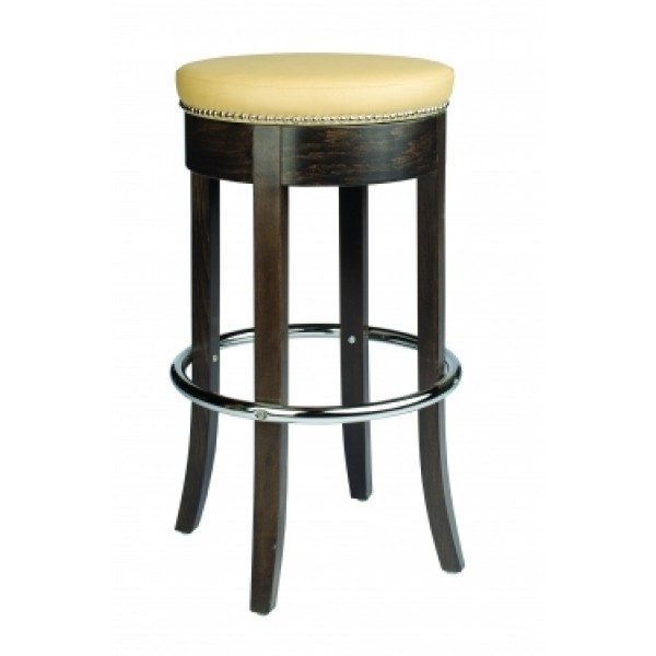 European Beech Solid Wood Restaurant Bar Stools Holsag Jackson Backless Bar Stool