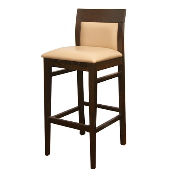 European Beech Solid Wood Upholstery Restaurant Bar Stools Beechwood Bar Stool 2875P