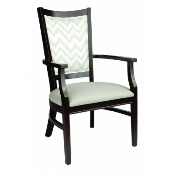 European Beech Solid Wood Restaurant Chairs Holsag Harlow Arm Chair
