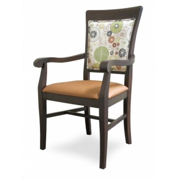 European Beech Solid Wood Restaurant Chairs Holsag Remy X-Back Armchair