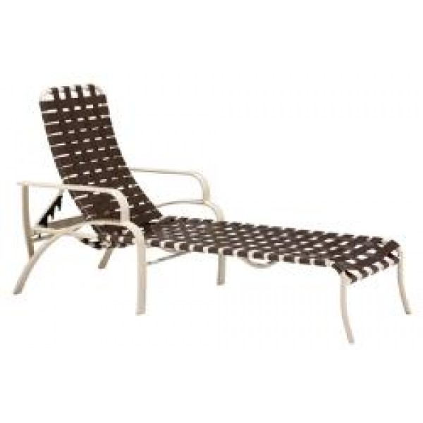 Evolution Crossweave Strap Chaise Lounge