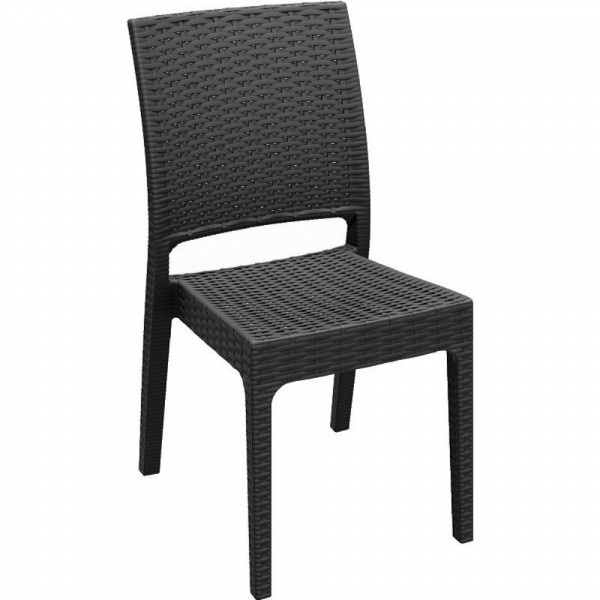 Florida Stacking Resin Side Chair - Brown
