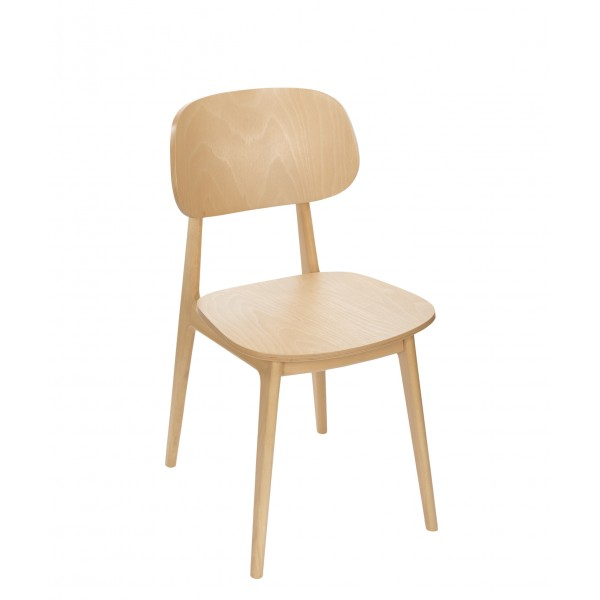 Fullham Beech Wood Hospitality Side Chair