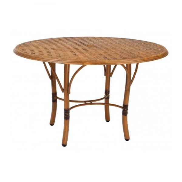 Glade Isle Dining Table With Thatch Top