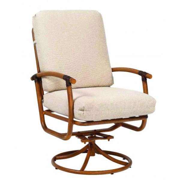 Glade Isle Swivel Rocker Dining Arm Chair