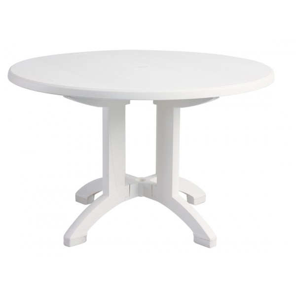 "Restaurant Outdoor Tables Aquaba 48"" Round with Balcony Leg"