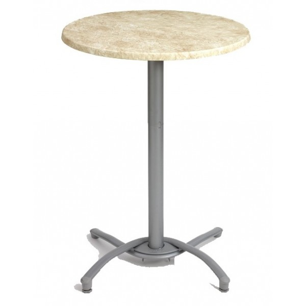 Restaurant Outdoor Table Bases Small Aluminum Bar Height Table Base