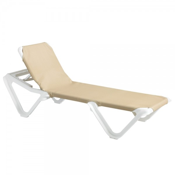 Restaurant Hospitality Poolside Furniture Nautical Adjustable Sling Chaise Lounge