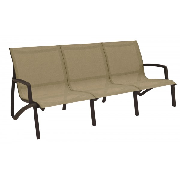 Grosfillex Sunset Collection Sofa with Arms