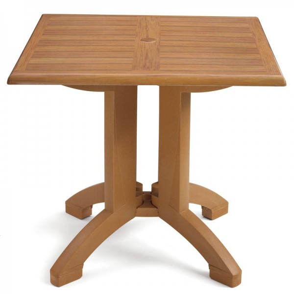 "Restaurant Outdoor Tables Winston 32"" Square Table Top and Base"