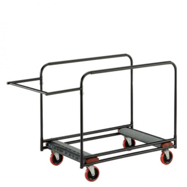 "Heavy Duty Round Table Cart - 31"" x 61"" x 34"" Side Stack"