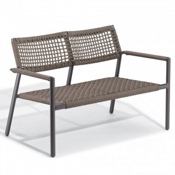 Hospitality Restauarant Del Campo Eiland Aluminum Rope Weave Lounge Love Seat