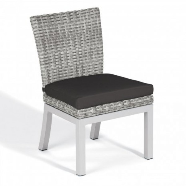 Hospitality Restauarant Hotel Almar Woven Aluminum Argento Outdoor Dining Side Chair