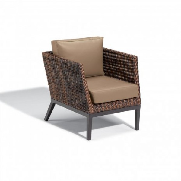 Hospitality Restauarant Hotel Pavion Woven Weave Salino Upholstered Outdoor Deep Seating Club Arm Chair