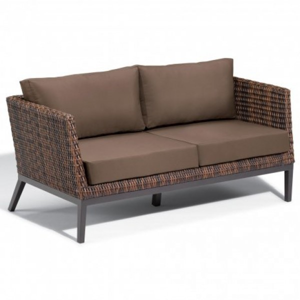 Hospitality Restauarant Hotel Pavion Woven Weave Salino Upholstered Outdoor Deep Seating Sofa