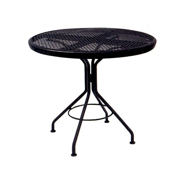 "In Stock Restaurant Chairs And Tables 30"" Contract+Plus Round Mesh Top Table"