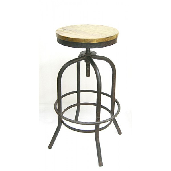 Industrial Restaurant Barstools Bowery Backless Bar Stool