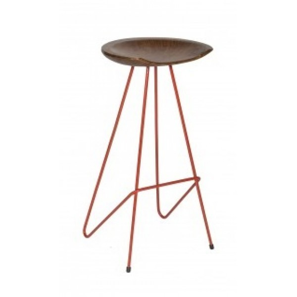 Industrial Restaurant Bar Stools Griffith Backless Bar Stool