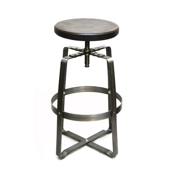 Industrial Restaurant Barstool Soho Backless Bar Stool