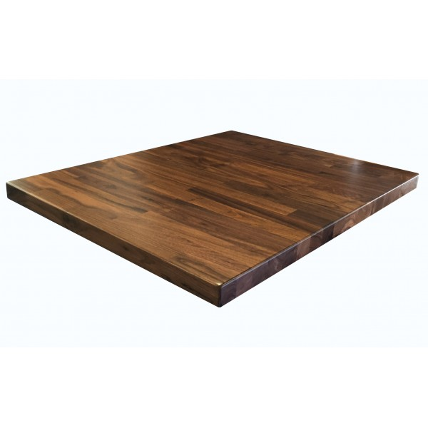 "Industrial Restaurant Table Tops 36"" x 36"" Black Walnut Butcherblock Tabletop"