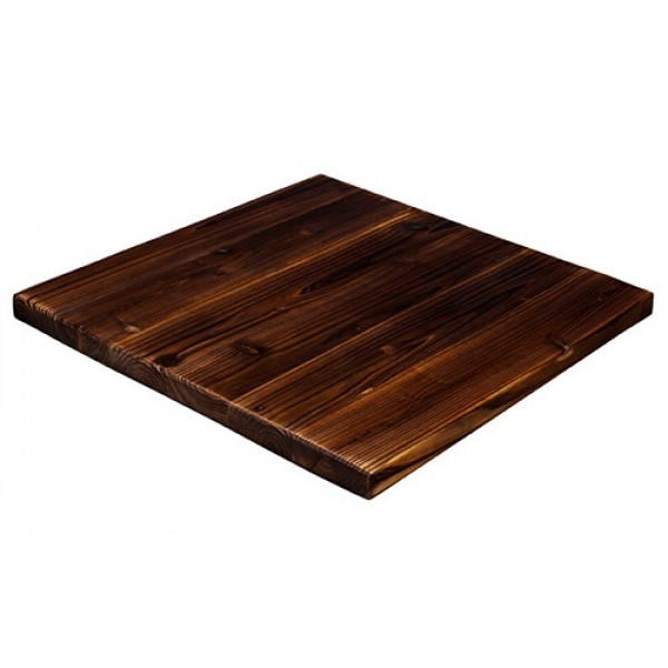 "Industrial Restaurant Tabletops 30"" Square Antique Pine Table Top"