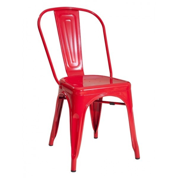 Industrial Style Restaurant Chairs Westinghouse Industrial Side Chair - Red