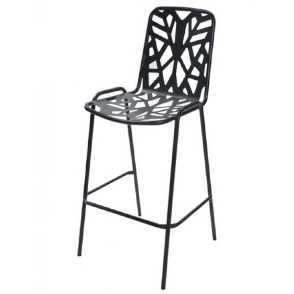 Italian-Metal-stacking-cafe-restaurant-bar-stool-fancy-leaf