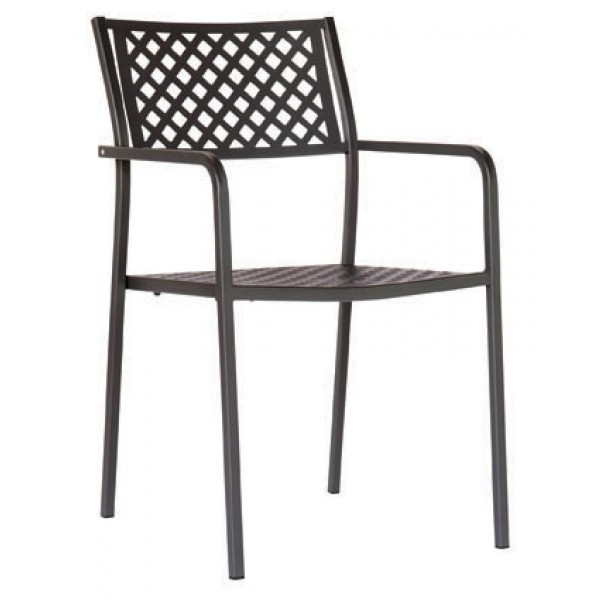 Italian Wrought Iron Restaurant Chairs Lola 2 Arm Chair