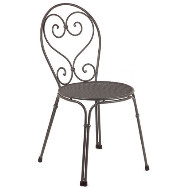Italian Wrought Iron Restaurant Chairs Pigalle Side Chair