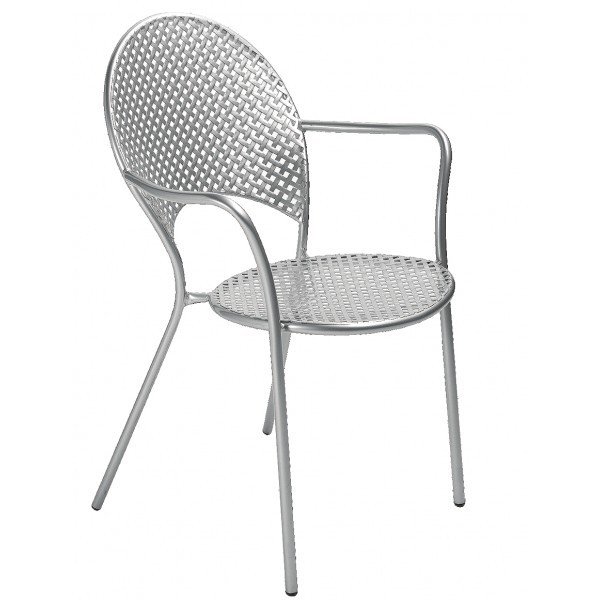 Italian Wrought Iron Restaurant Chairs Sole Arm Chair