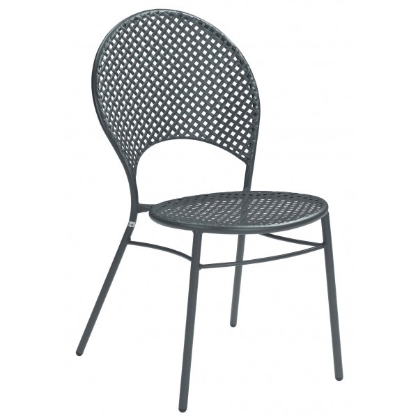 Italian Wrought Iron Restaurant Chairs Sole HD Heavy Duty Side Chair
