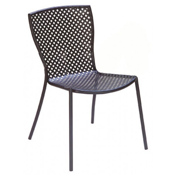 Italian Wrought Iron Restaurant Chairs Sonia 1 Side Chair