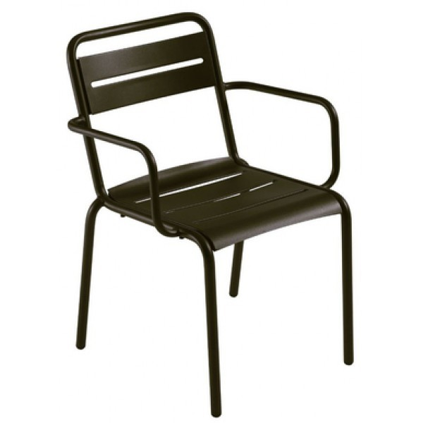 Italian Wrought Iron Restaurant Chairs Star Arm Chair