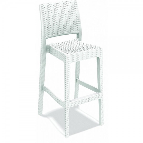 Jamaica Stacking Wicker Weave Resin Bar Stool