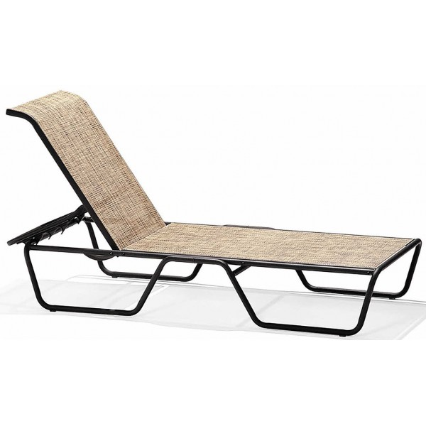 Oasis Sling Casuals Chaise Lounge with Skids