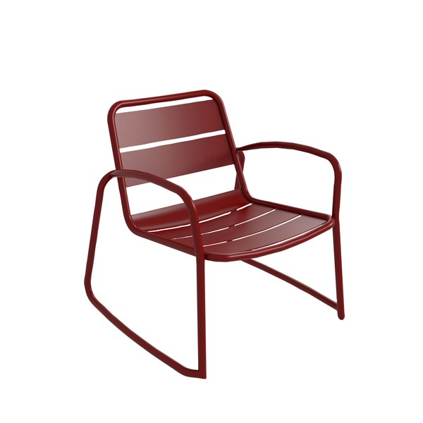 Aluminum Hospitality Arm Chair With Sleigh Leg - Marais