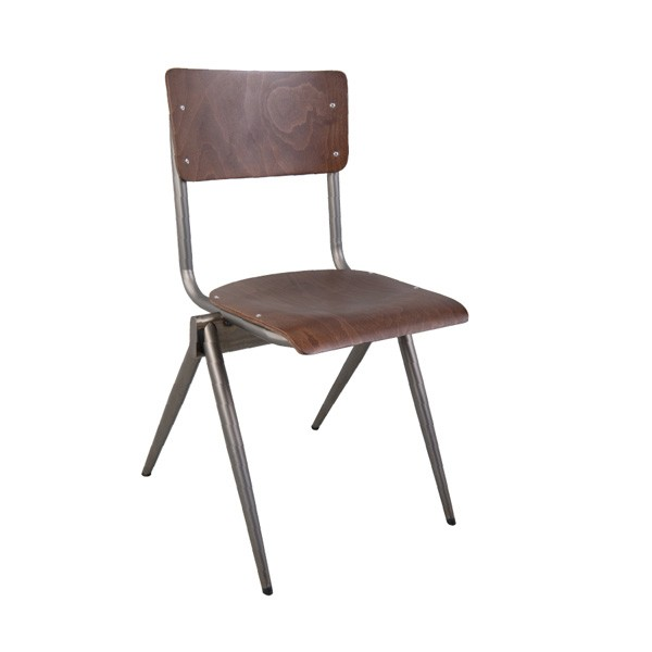 MJ-1072 CFC-1072 Industrial Rustic Commercial Restaurant  Indoor Wood and Metal Chair