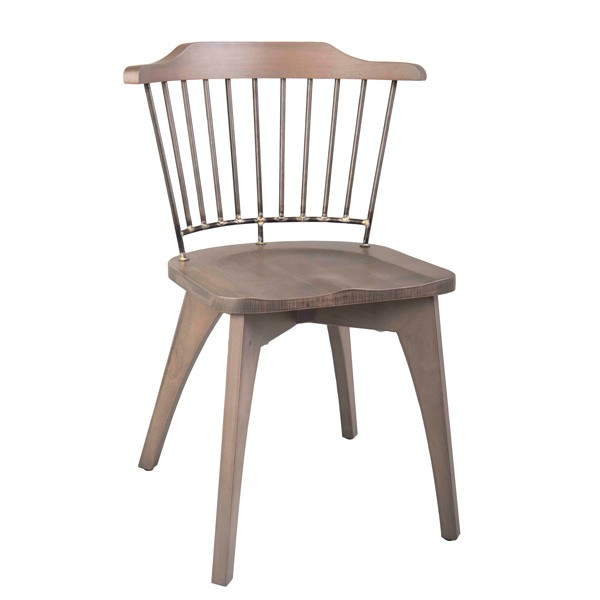 mj-1075 CFC-1075 Industrial Rustic Commercial Restaurant  Indoor Wood and Metal Chair