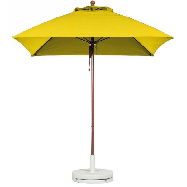 Commercial Restaurant Umbrellas 7-5 Foot Square Fiberglass Market Umbrella With Aluminum Pole - Pulley Lift