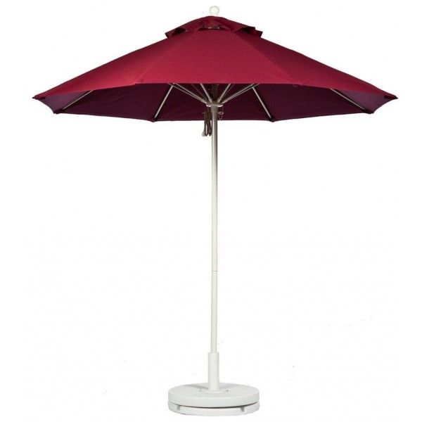 Commercial Restaurant Umbrellas 7-5 Foot Fiberglass Market Umbrella With Aluminum Pole - Pulley Lift
